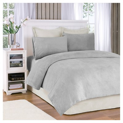Soloft Plush Sheet Set (Queen)Gray