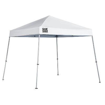 Quick Shade Weekender Elite 10 x 10 Foot Slant Leg Durable Pop Up Canopy, White