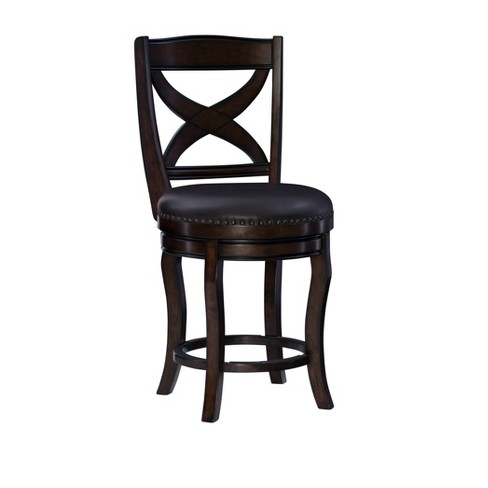 Ted Swivel Counter Height Barstool Espresso - Linon - image 1 of 4