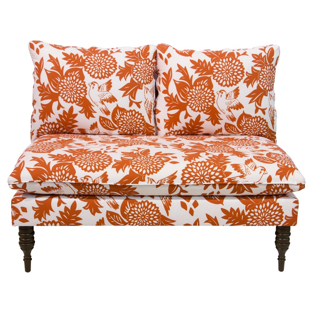 Image of Ashland Love Seat - Garden Bird Orange - Cloth & Company