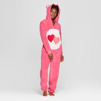 Womens Care Bears Union Suit - Pink XS