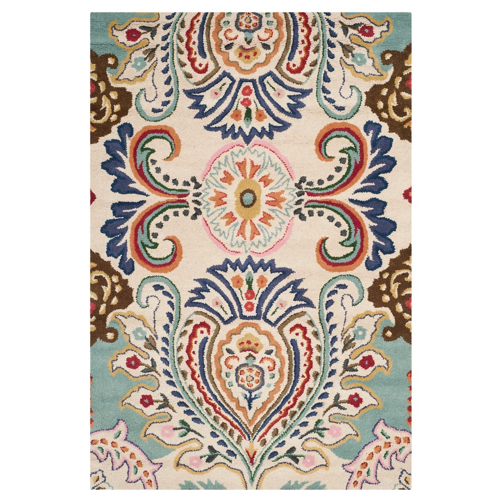 Harvey Area Rug - Ivory/Blue (4'x6') - Safavieh, Blue White