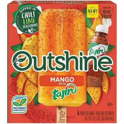Outshine Mango with Tajin Frozen Fruit Bar - 6ct