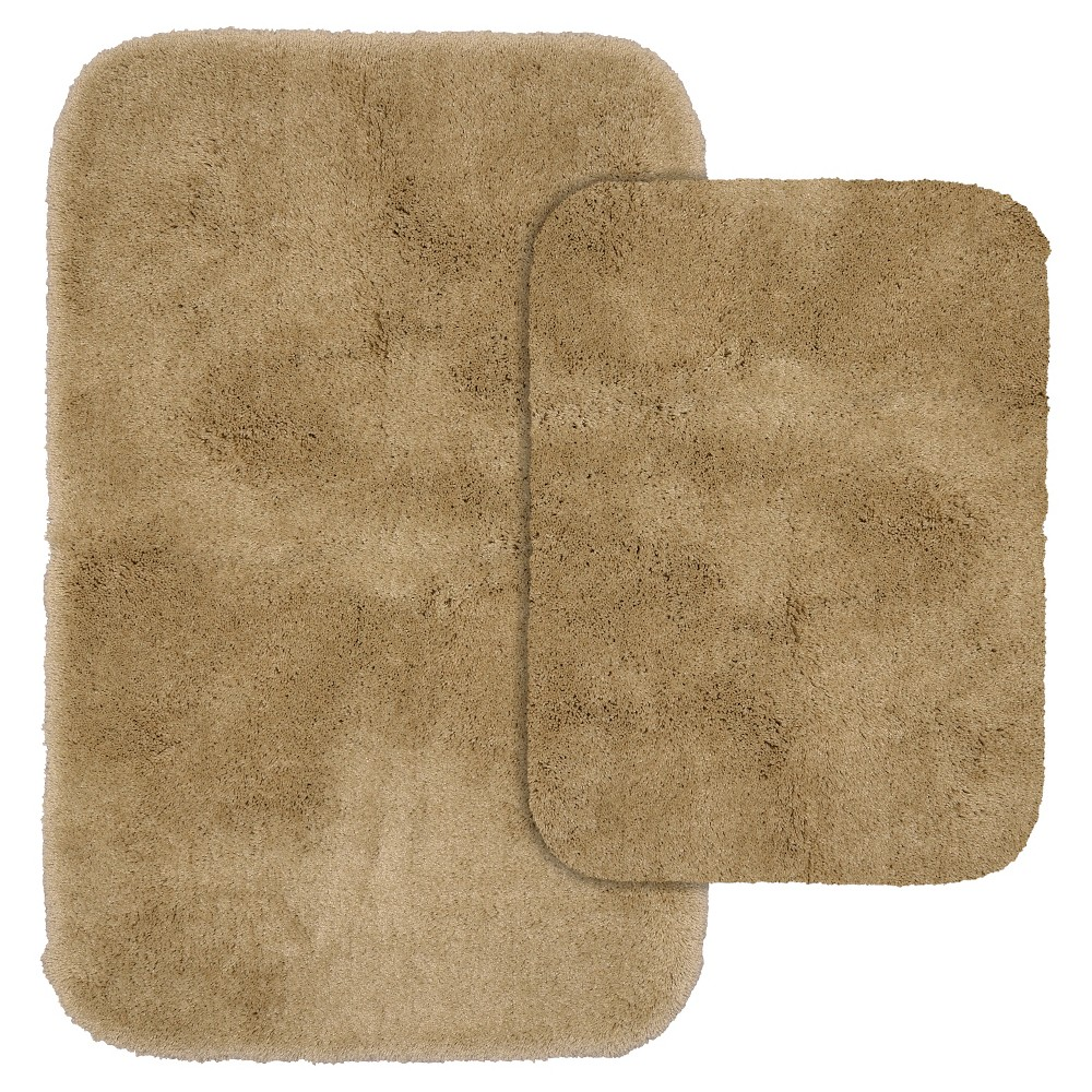 2pc Finest Luxury Ultra Plush Washable Nylon Bath Rug Set Taupe - Garland was $33.49 now $21.99 (34.0% off)