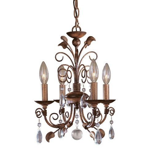 Minka Lavery ML 3127 4 Light 1 Tier Mini Crystal Chandelier from the Mini Chandeliers Collection - image 1 of 1