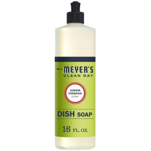 Mrs. Meyer's Clean Day Liquid Dish Soap Lemon Verbena - 16oz Bottle - image 1 of 4