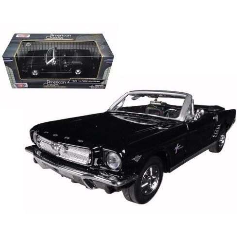 1964 1/2 ford mustang convertible black 1/24 diecast model car