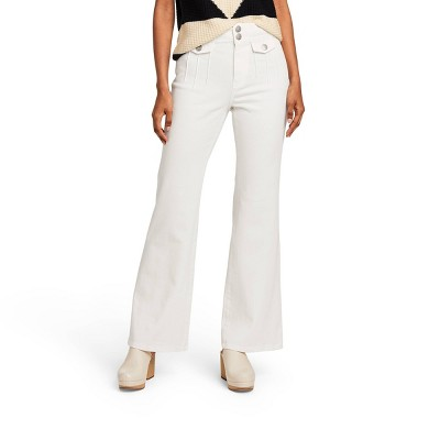 Women's High-Rise Flare Jeans - Victor Glemaud x Target White