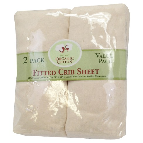 TL Care Baby Fitted Crib Sheet 2pk Sandstone - image 1 of 1