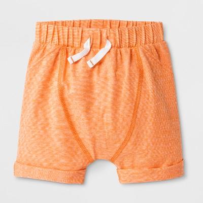 Baby Boys' Lounge Shorts - Cat & Jack™ Orange 0-3M