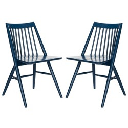 Set of 2 Wren Spindle Dining Chair Navy - Safavieh