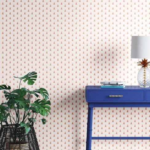 Mini Pineapple Peel & Stick Removable Wallpaper Metallic Copper - Opalhouse™ - image 1 of 3
