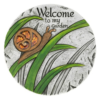 """Cement """"Welcome to My Garden"""" Stepping Stone - Zingz & Thingz"""