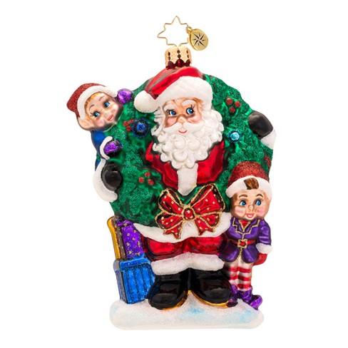 Christopher Radko Glass Bring In The Joy Bring In The Fun Santa Christmas Ornament 1017323