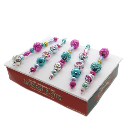 "Shiny Brite 7.5"" Vc Shaped Icicles Vintage Celebration  -  Ornament Sets - image 1 of 3"