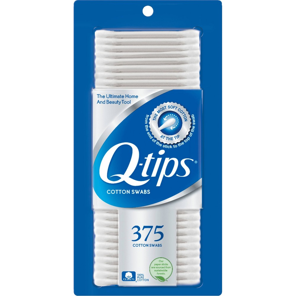 Image of Q-Tips Cotton Swabs - 375ct
