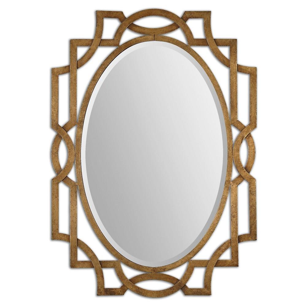 Oval Margutta Decorative Wall Mirror Gold - Uttermost, Antique Gold