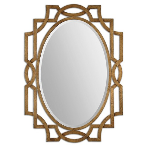 Oval Margutta Decorative Wall Mirror Gold - Uttermost - image 1 of 2