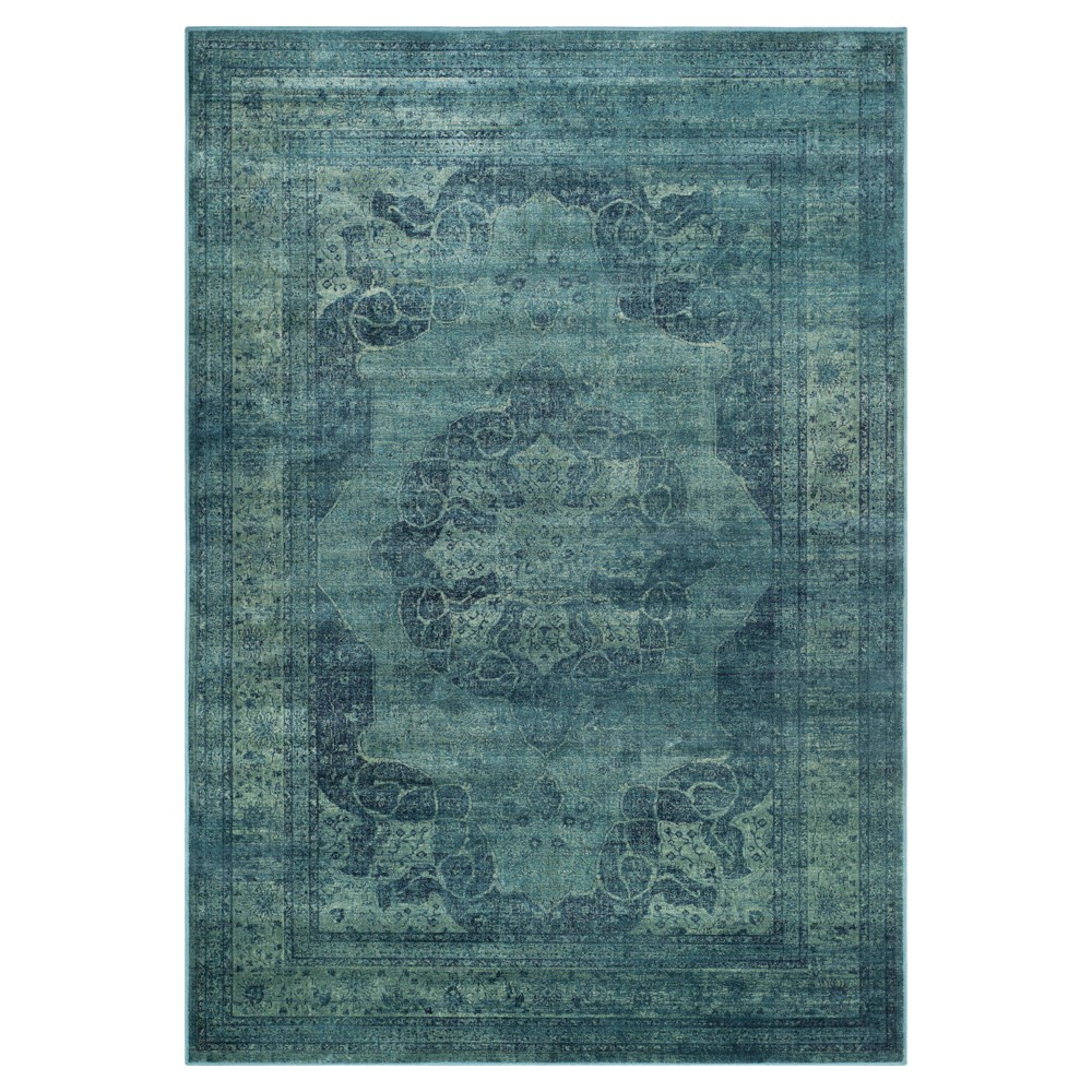 Blue/Multi Abstract Loomed Accent Rug - (4'X5'7) - Safavieh, Blue/Multicolor