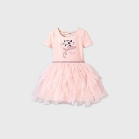 Toddler Girls' Minnie Mouse Sleeveless Tutu Dress - Pink - image 1 of 2