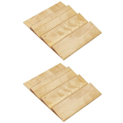 Rev-A-Shelf 4SDI-24 22-Inch 3-Tier Trim-to-Fit Wood Spice Drawer Storage Organizer Insert for 24-Inch or Smaller Cabinet Base, Natural Maple (2 Pack)