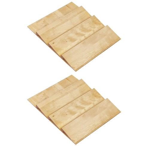 Rev-A-Shelf 24 Inch Spice Drawer Storage Organizer Insert, Maple  (2 Pack) - image 1 of 3