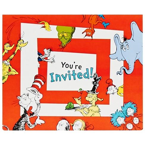 Dr. Seuss 8ct Invitations - image 1 of 1