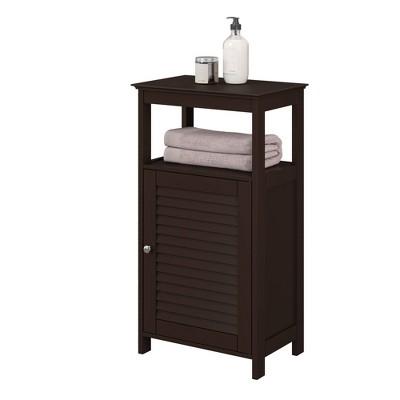Free Standing Cabinet with Shutter Door Espresso Brown - RiverRidge