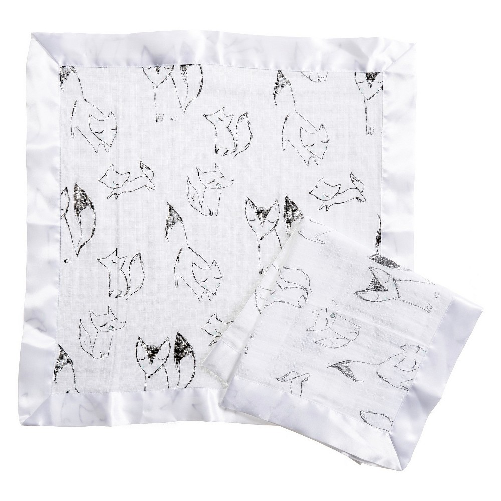 Image of Aden by Aden + Anais Security Blankets - Trotting Fox - Gray