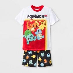 Boys' Pokemon 2pc Short Sleeve Pajama Set - White