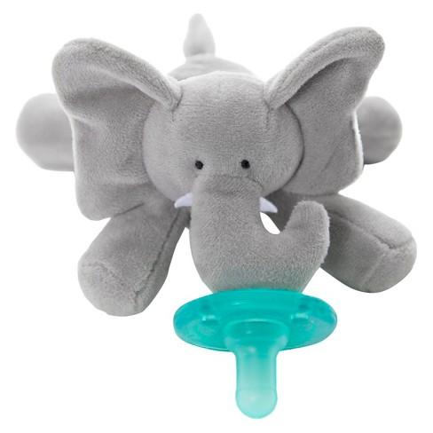 Wubbanub Elephant Pacifier Gray Target