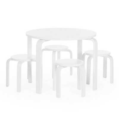 5pc Kids' Nordic Table and Chair Set White - Guidecraft