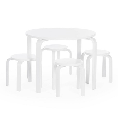 5pc Kids' Nordic Table and Chair Set White - Guidecraft - image 1 of 4