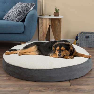 Petmaker Memory Foam Pillow Top Reversible Cats and Dogs Bed - Gray