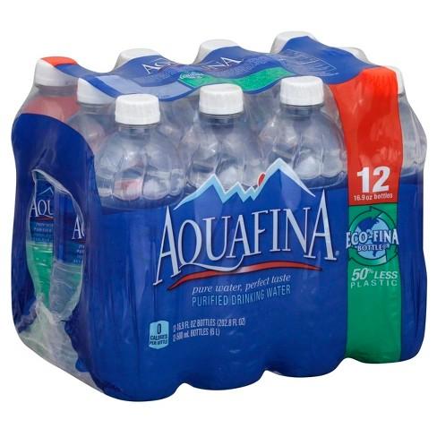9da72f8cb8 Aquafina Purified Water - 12pk/16.9 Fl Oz Bottles : Target
