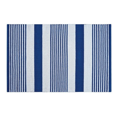 2'x3' Rectangle Stripe Accent Rug Blue - C&F Home