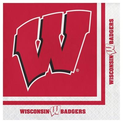 20ct University of Wisconsin Badgers Napkins - NCAA