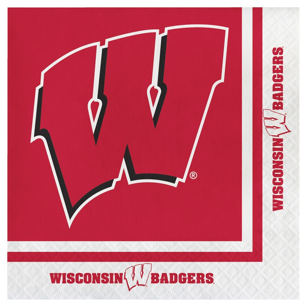 Image of 20ct University of Wisconsin Badgers Napkins