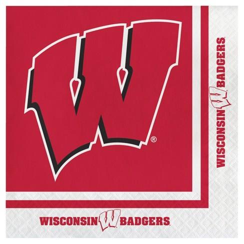 20ct University of Wisconsin Badgers Napkins - NCAA - image 1 of 2