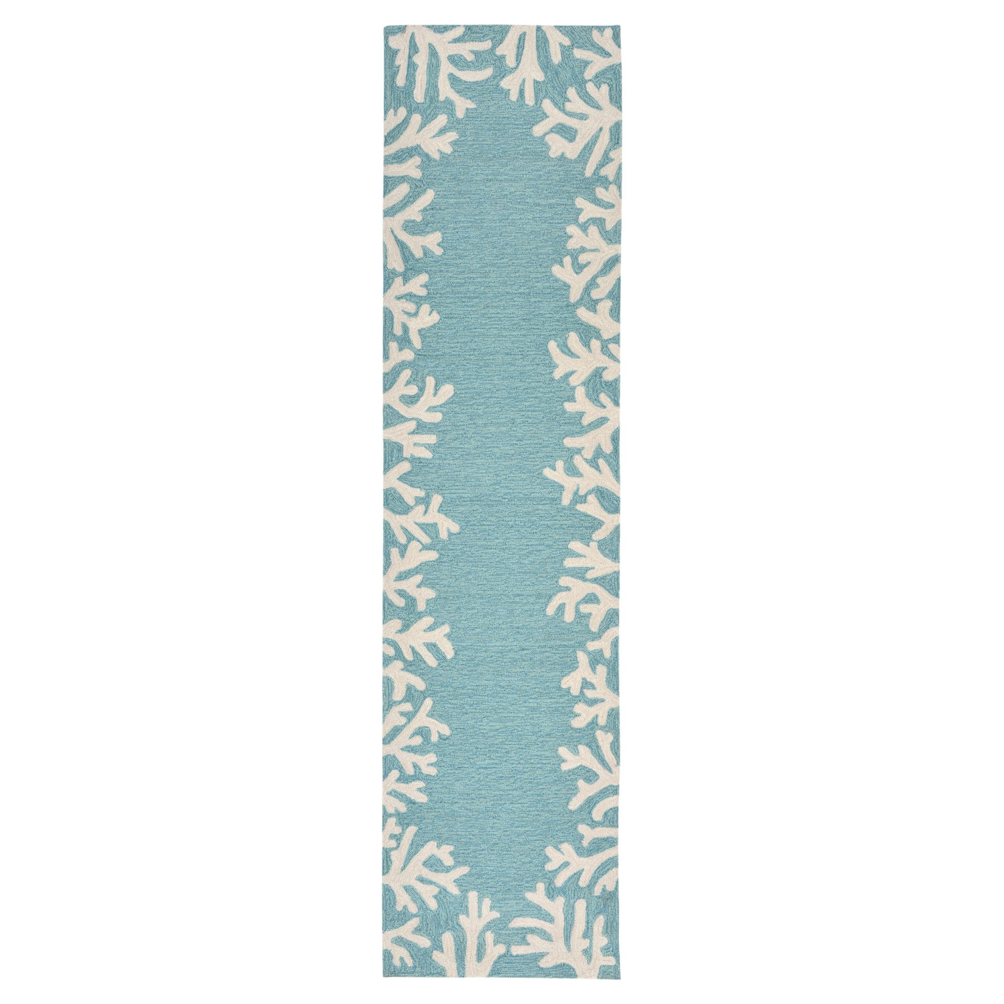 Blue Abstract Tufted Runner - (2'x8') - Liora Manne