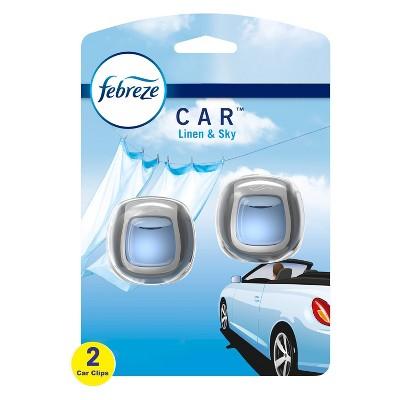 Febreze Car Odor-Eliminating Air Freshener Vent Clip - Linen & Sky
