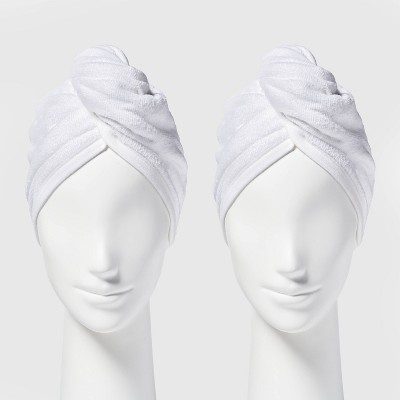 2pk Bath Hair Wrap White - Room Essentials™