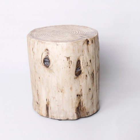 Faux Wood Stump Indoor/Outdoor Accent Table Natural - Project 62™ - image 1 of 4