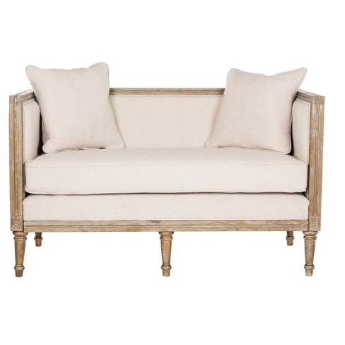Leandra French Country Settee - Safavieh® - image 1 of 6