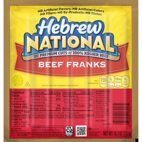 Hebrew National Beef Franks - 6ct/10.3oz - image 1 of 4