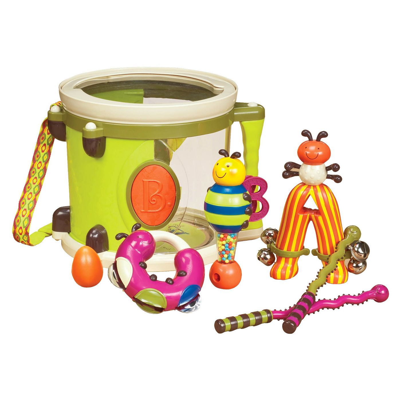 B. toys Toy Drum Set 7 Instruments - Parum Pum Pum - image 1 of 5