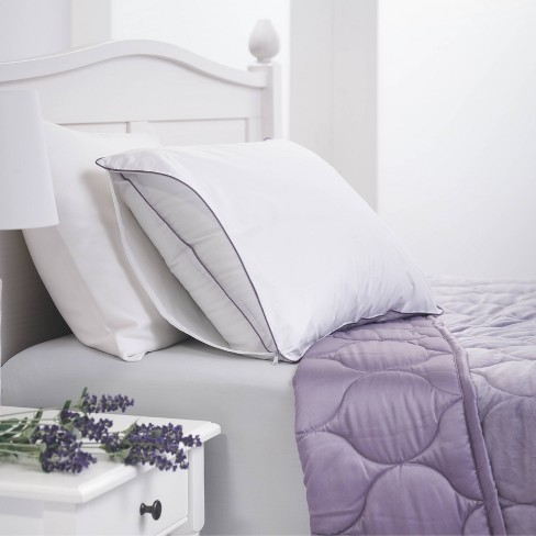 Lavender Infused Pillow Protector White - Dream Infusion - image 1 of 3