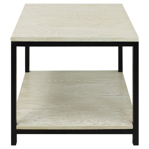 End Table - Solid Red Oak Top & Shelf - White Wash -  Flora Home - image 1 of 5