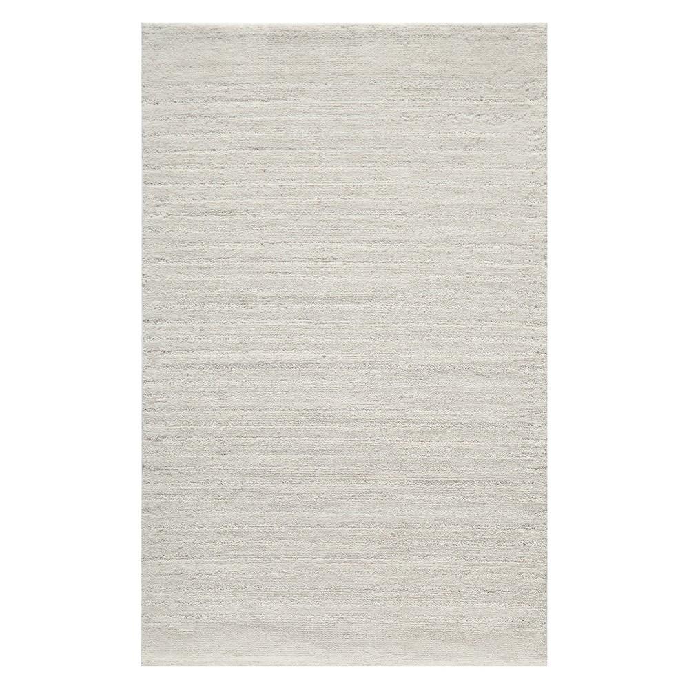 5'X8' Solid Tufted Area Rug Ivory - Momeni, White