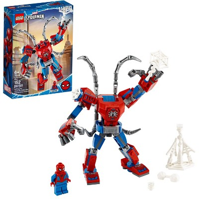 LEGO Marvel Spider-Man: Spider-Man Mech Building Playset with Mech and Minifigure 76146